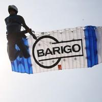 Werbedruck auf Fallschirm