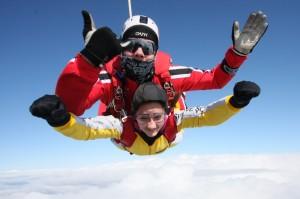 Freifall - Fallschirmspringen aus Ballon